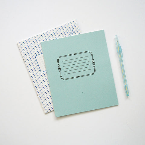 Blue Notebooks & Pen Set