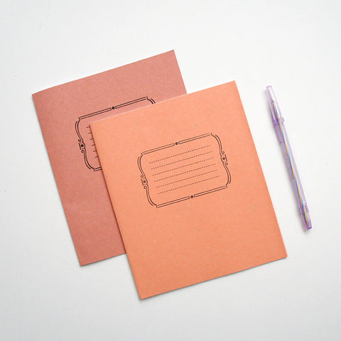 Ukranian Peach Notebooks & Pen Set