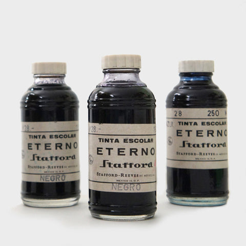 Vintage Bottles of India Ink