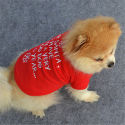 Red Merry Christmas Dog Clothes