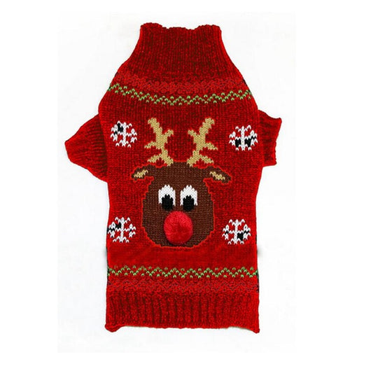 Christmas Reindeer Warm Pet Sweater