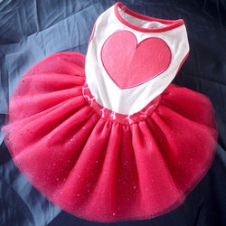 Pet Shining Lace Tutu Dress
