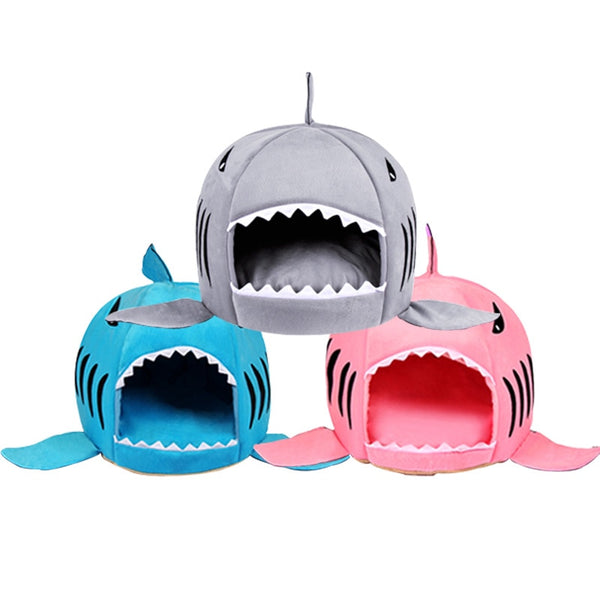 Soft Shark Shape Pet Bed