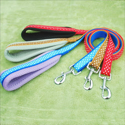 Dots Print Padded Pet Leash