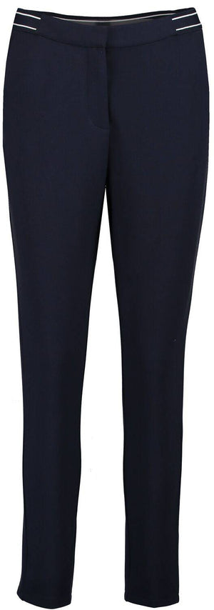 Navy Blue Garcia Trousers with a zip closure
