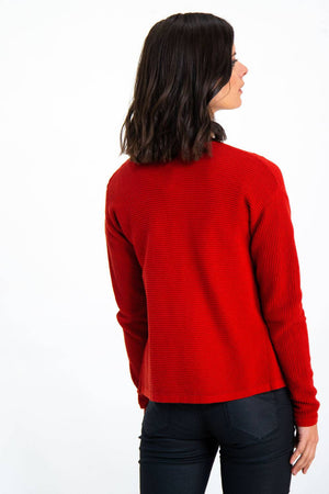 Red Open Garcia Cardigan
