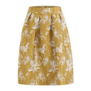 Coster Copenhagen Gold Skirt in Jacquard