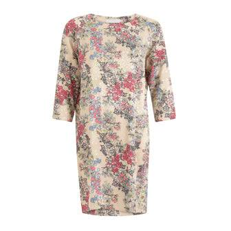 Coster Copenhagen dress in winter berry print w. raglan sleeve
