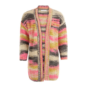 Coster Copenhagen hand knitted volume cardigan in multi colour