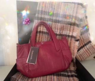 Gift Set - Pink Scarf and Designer Handbag