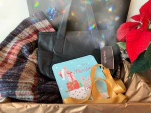 Gift Set - All over print Scarf and Designer Handbag