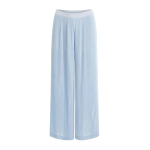 Coster Copenhagen wide pleated light blue trousers