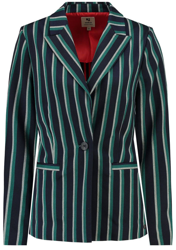Garcia Green Stripe Suit Jacket