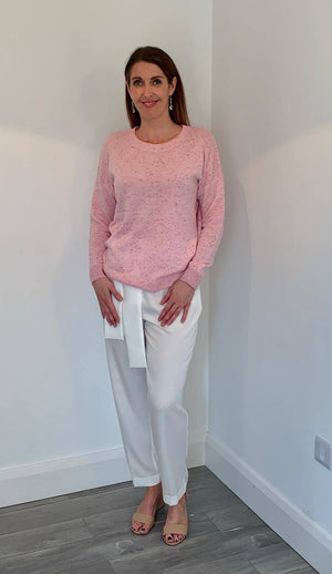 Coster Copenhagen light pink cashmere sweater - Your Style Your Story