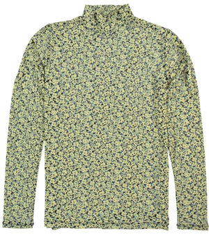 Yellow Garcia Blouse with floral design