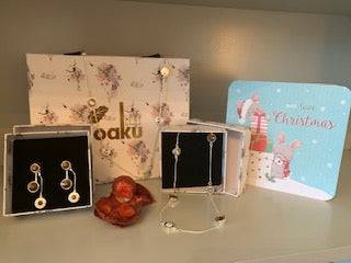 Gift Set - Silver Earrings and Necklace