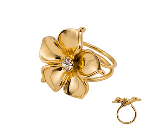 IOAKU La Fleur Gold Ring - Your Style Your Story