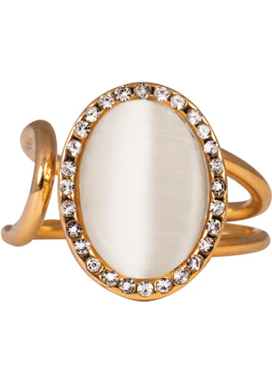 IOAKU Elipse Sparkle Gold Ring