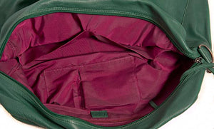 Shona Easton Green Leather Overnight Bag