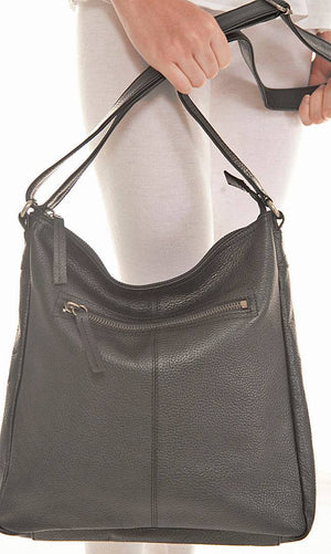 Shona Easton Black Large Shoulder Trekker Bag