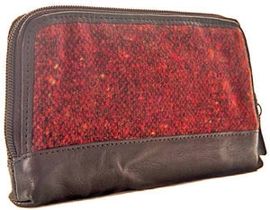 Shona Easton Red Donegal Donna Purse with card-guard case inside