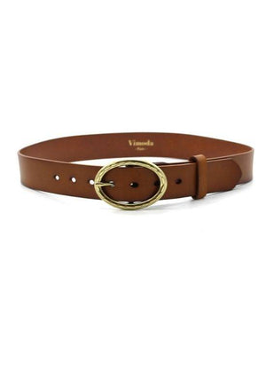 Vimoda Brown Belt with Oval Buckle