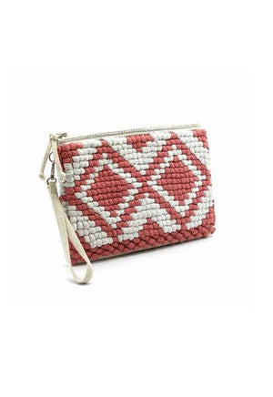 Vimoda Rose Braided Clutch Bag