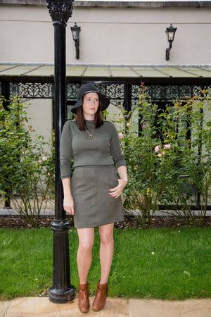 Army Green Garcia Skirt with Pockets