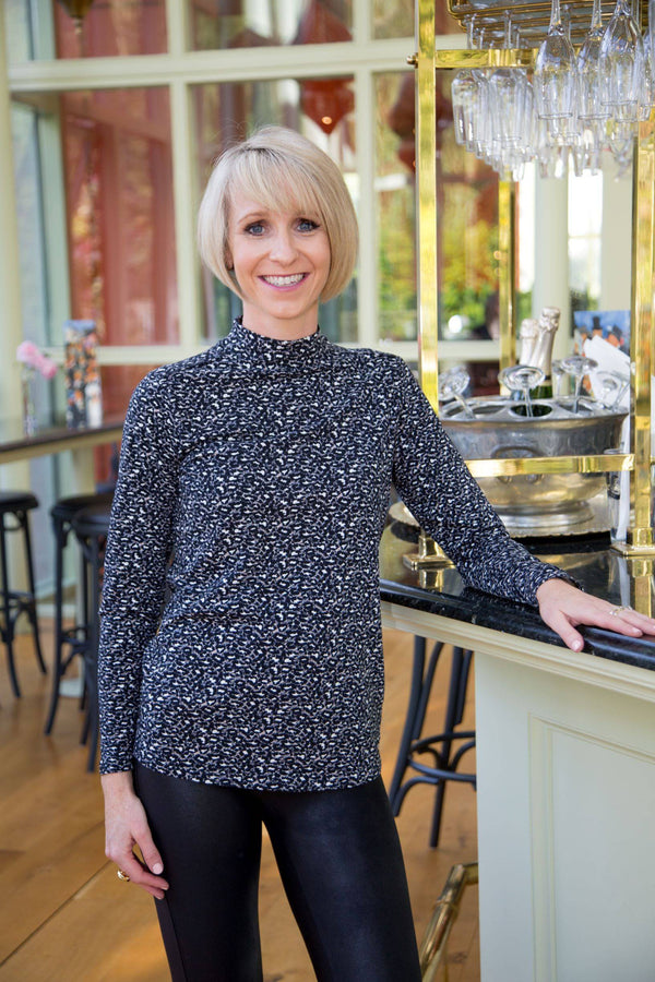 Garcia blouse with Leopard Print