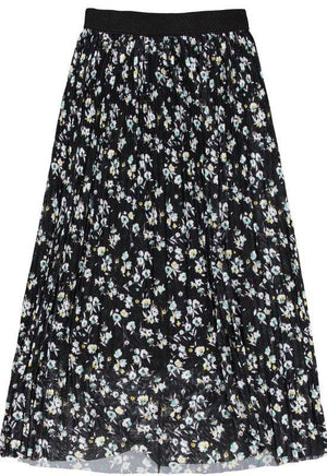 Garcia black mesh skirt with allover flower print