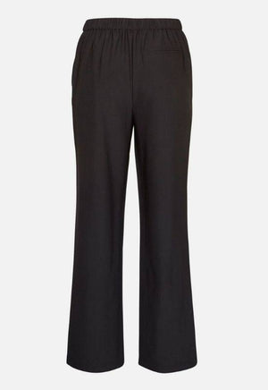 Moss Copenhagen Black Wide Fitted Trousers