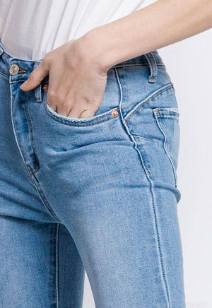 The Ella - Blue Skinny Push-Up Jeans