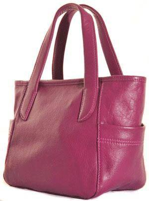 Shona Easton Handheld Magenta Pink Leather Bag