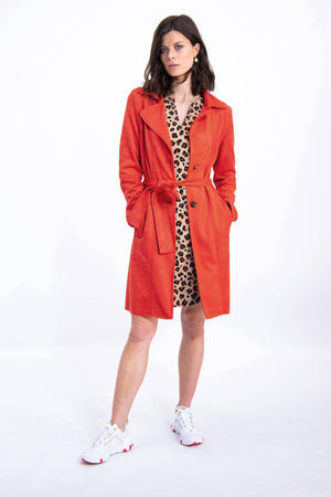 Garcia Brown Dress with Leopard Print