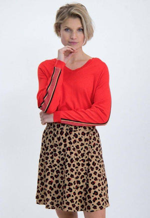 Brown Leopard Print Garcia Skirt - Your Style Your Story