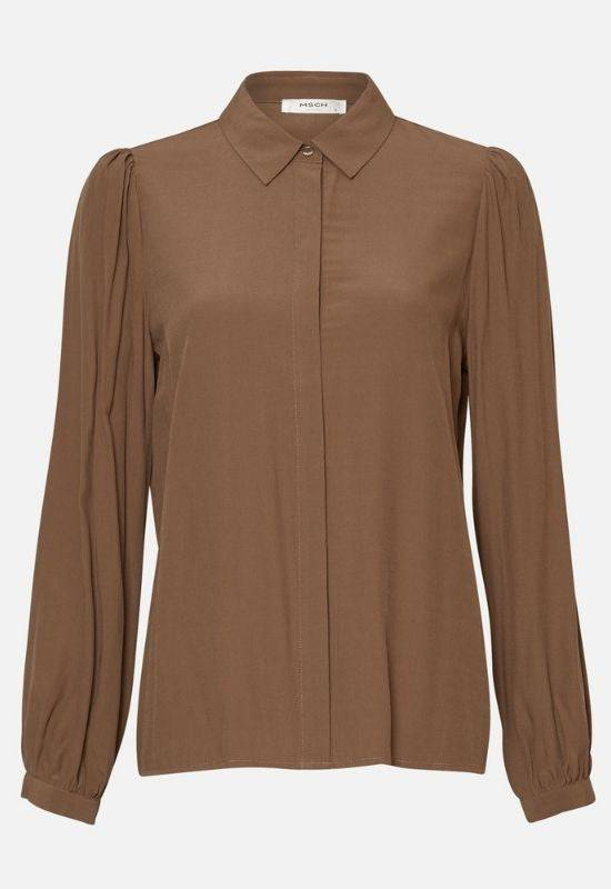 Moss Copenhagen Brown Long-sleeved Shirt