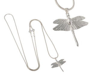 IOAKU The Dragonfly Mini Silver Necklace
