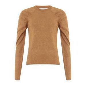 Coster Copenhagen bronze knit in lurex with volume at shoulder