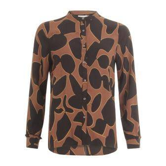 Coster Copenhagen Brown Shirt in Lava Print - Your Style Your Story