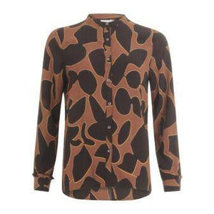 Coster Copenhagen Brown Shirt in Lava Print