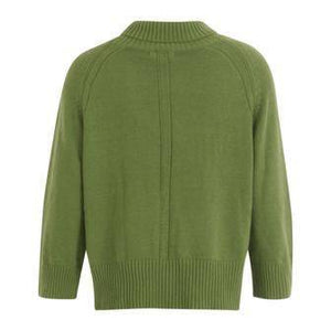 Coster Copenhagen Green Knit Jumper with Turtleneck in Seawool