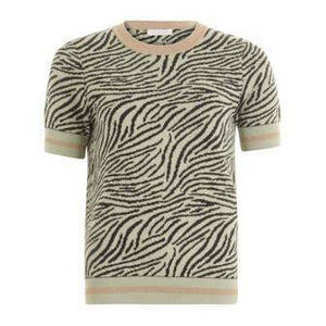 Coster Copenhagen Seawool Knit Blouse in Zebra Pattern - Your Style Your Story