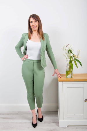 Coster Copenhagen tailored trousers in light green