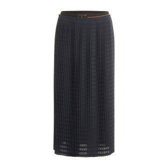 Coster Copenhagen Striking Blue Skirt in plissé with CC logo elastic band