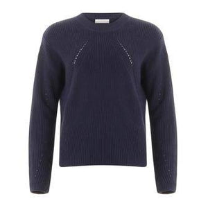 Coster Copenhagen Navy Knit with Hole Pattern In Seawool