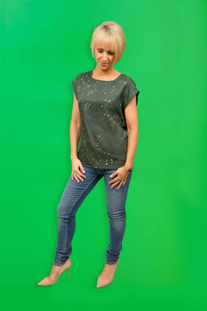 Coster Copenhagen green top in recycled polyester