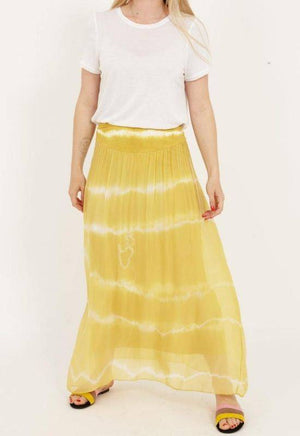 Coster Copenhagen long yellow skirt with jersey waistband