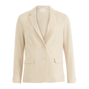 Coster Copenhagen creme suit jacket w. button details at cuffs