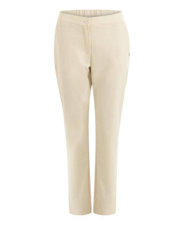 Coster Copenhagen creme trousers w. buttons and back pocket