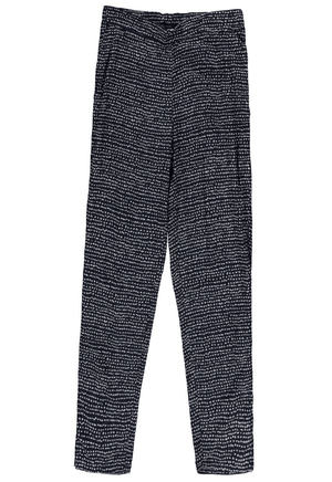 Garcia dark blue loose trousers with allover print